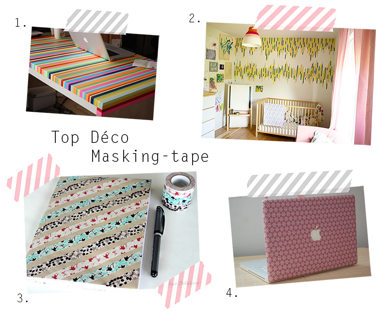 le dimanche on s 39 inspire top deco masking tape. Black Bedroom Furniture Sets. Home Design Ideas