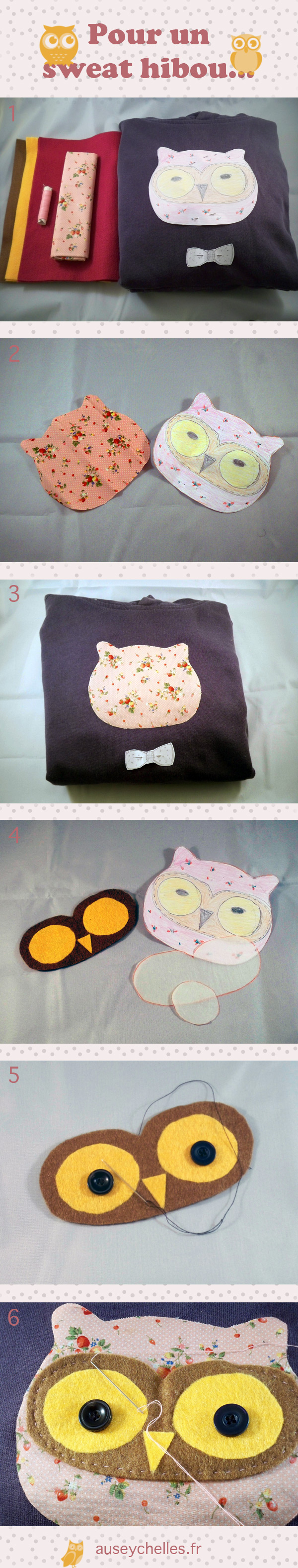 tutoriel sweat hibou