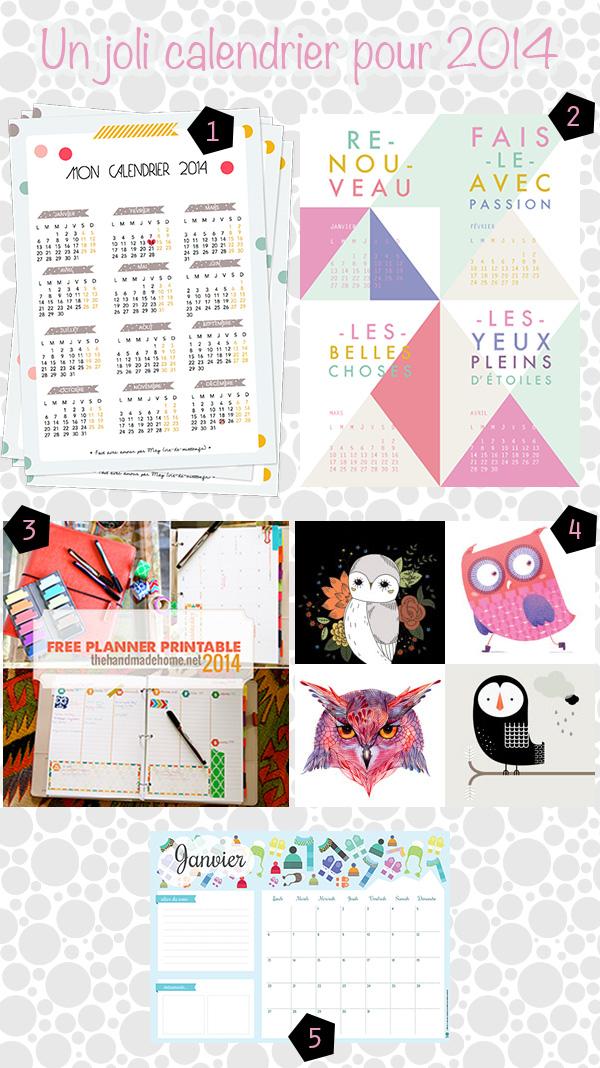 calendriers 2014 à imprimer