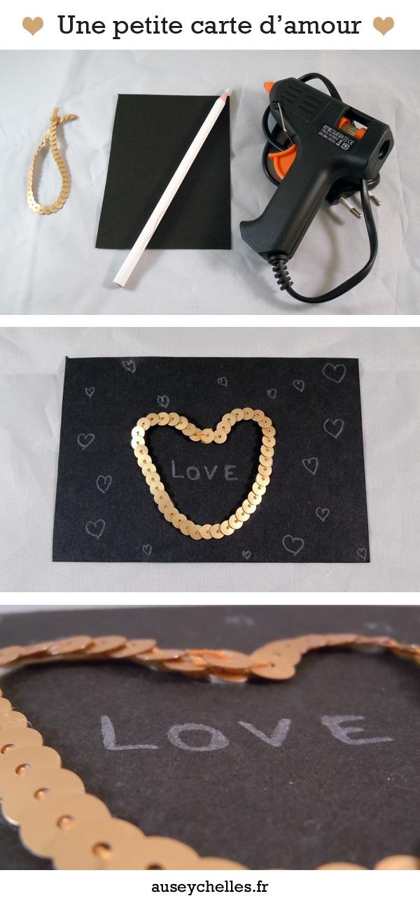 carte paillettes love