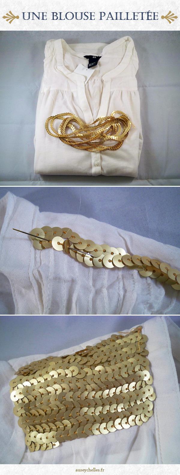 tutoriel blouse paillettes