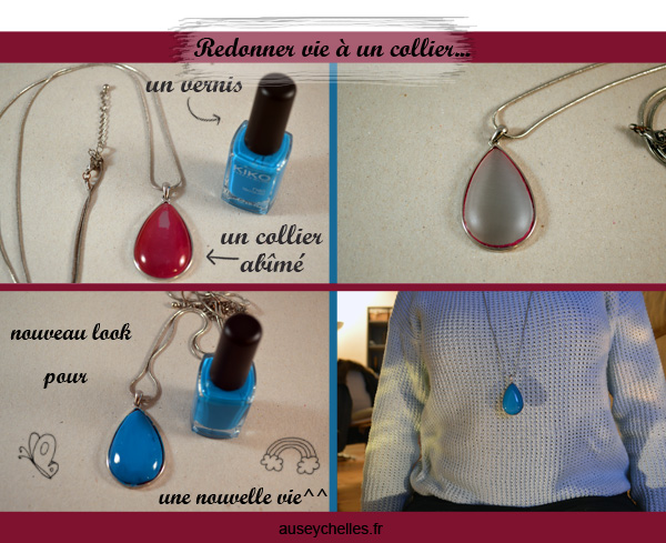 colorer un collier avec du vernis
