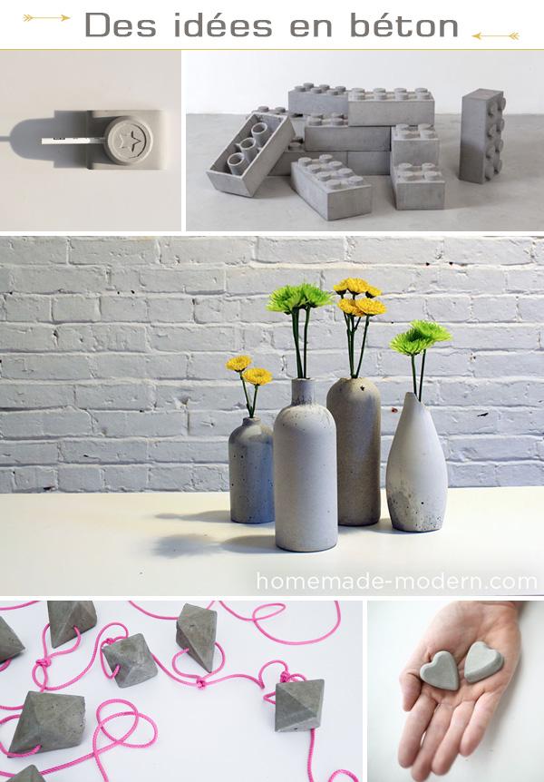 Inspirations DIY béton