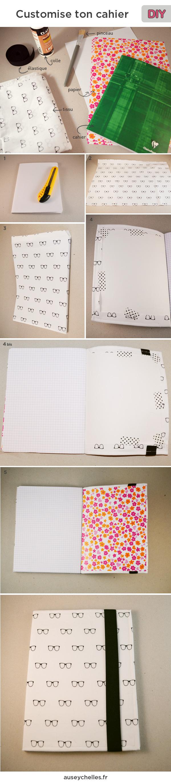 tutoriel DIY customisation cahier
