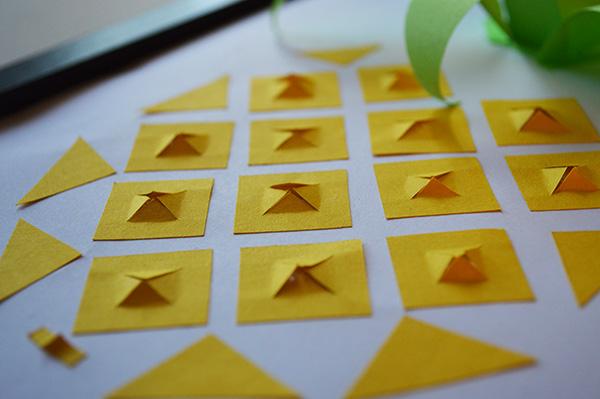 détails cadre ananas diy