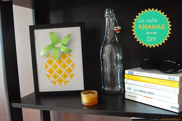 presentation cadre ananas diy