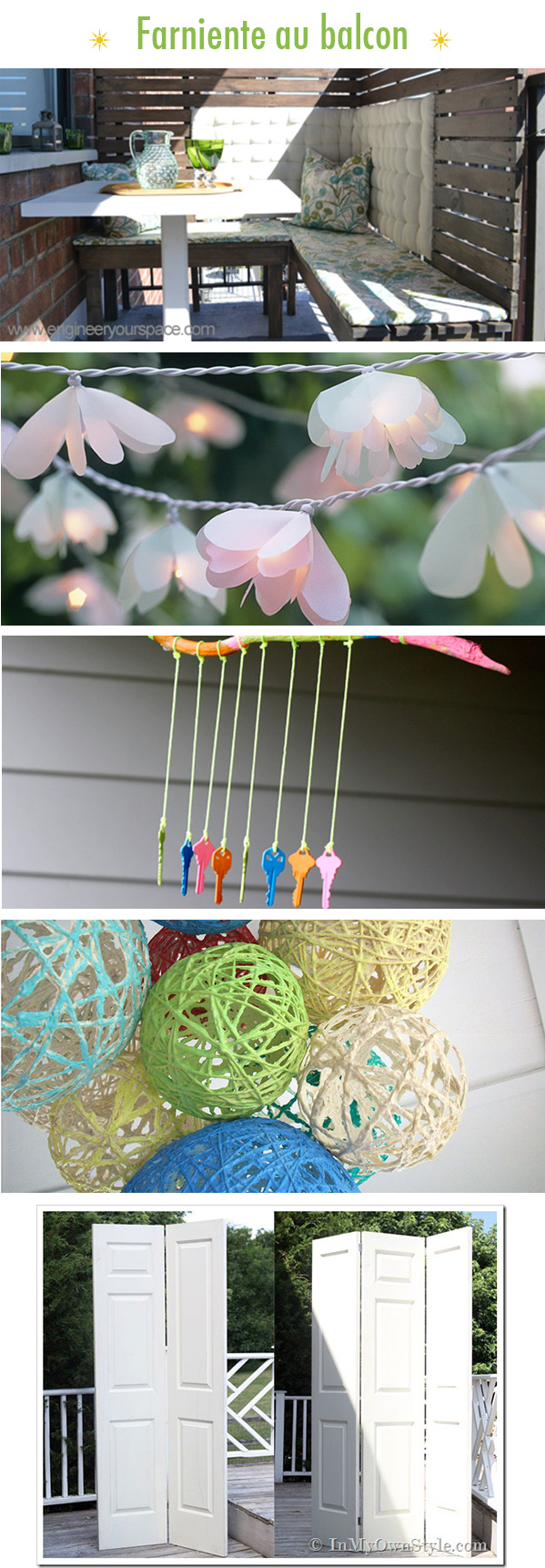 top diy decoration balcon