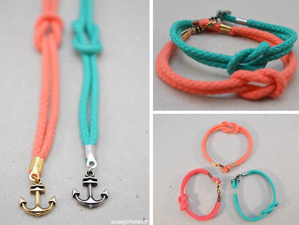 bracelet été noeud ancre marin vues