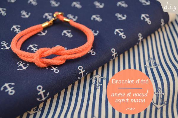 bracelet noeud ancre marin