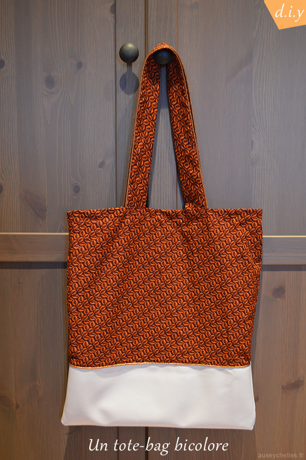 presentation tote-bag bicolore diy