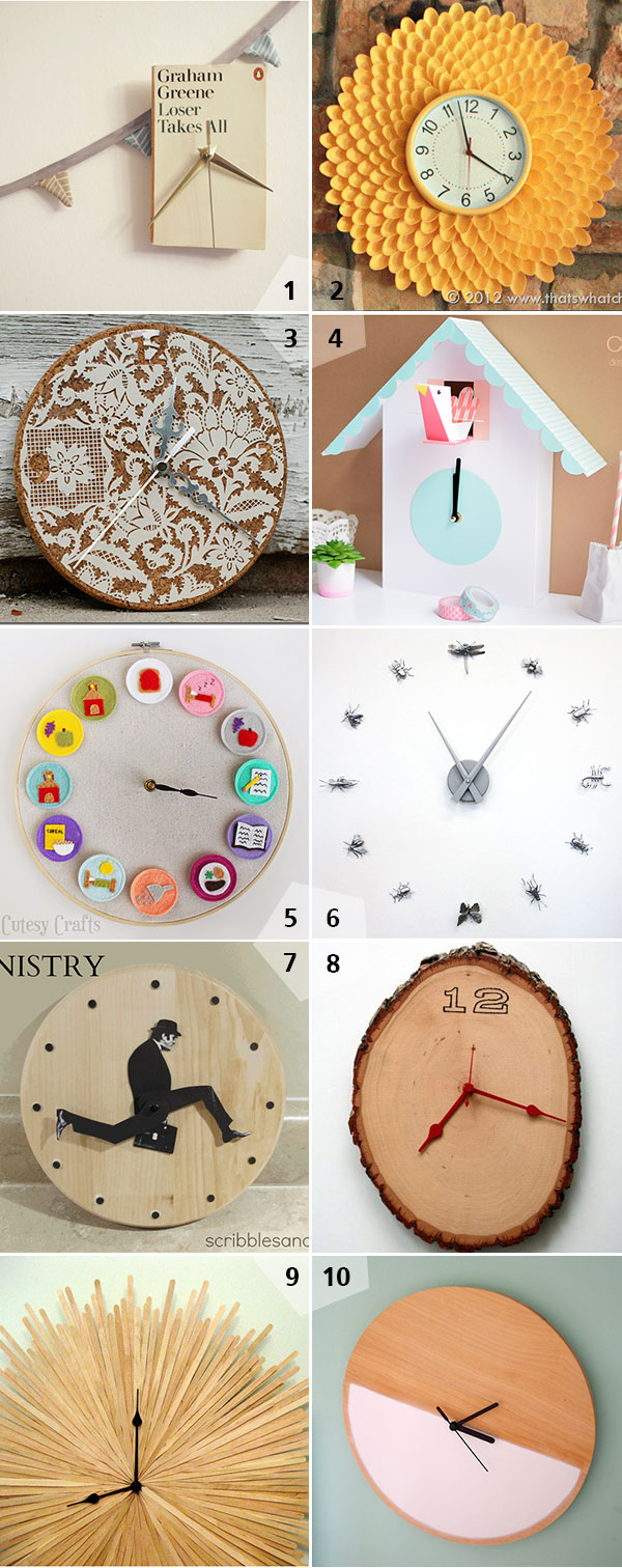 inspirations horloges diy