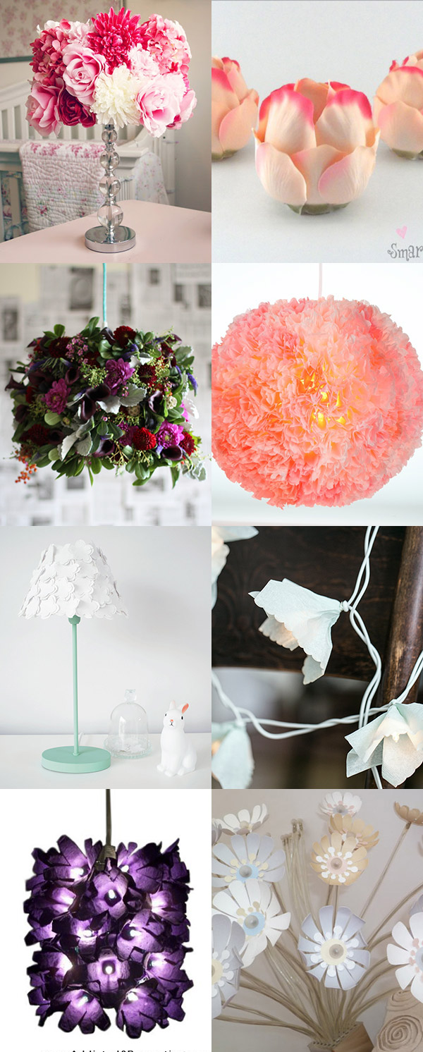 inspirations diy lumières fleuries