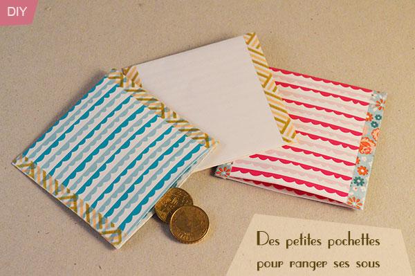 presentation pochette monnaie en papier DIY