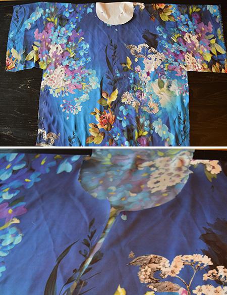 etapes 3 et 4 veste kimono diy