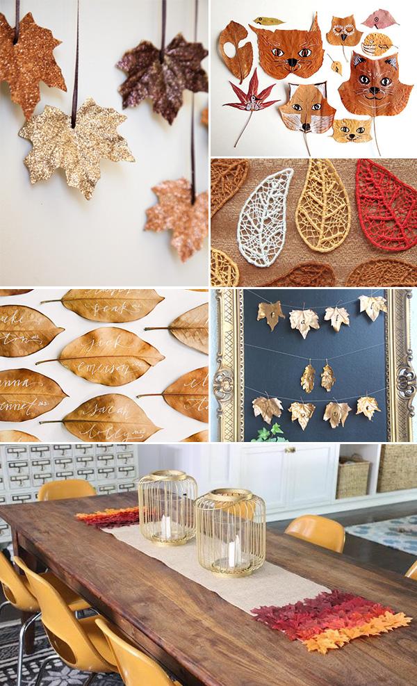 6 inspirations diy feuilles d'automne