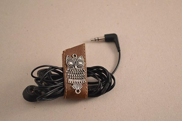 range-écouteurs chouette DIY