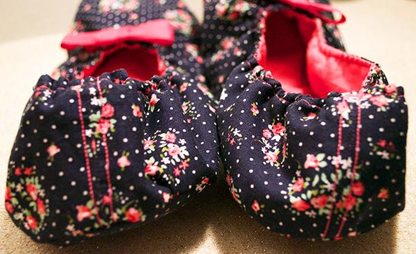 chaussons fait-main arriere