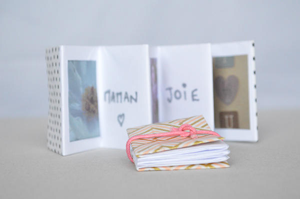 mini-album photos ouvert diy