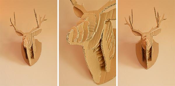 vues cerf 3D en carton auseychelles.fr