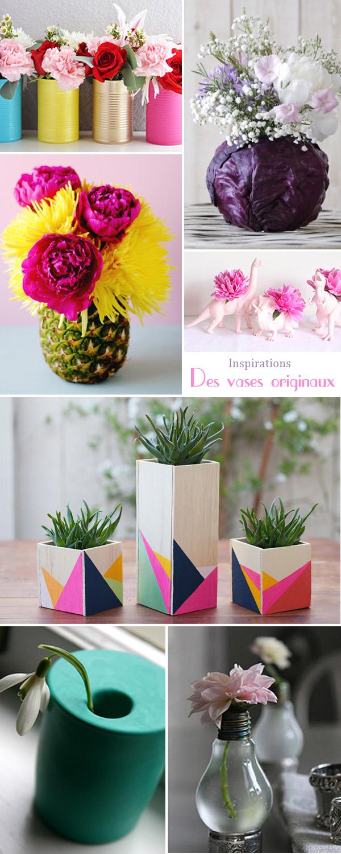 inspirations du dimanche des vases originaux DIY