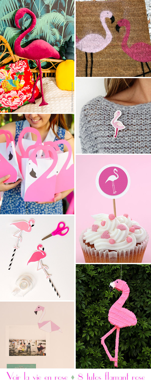 8 inspirations flamant rose DIY