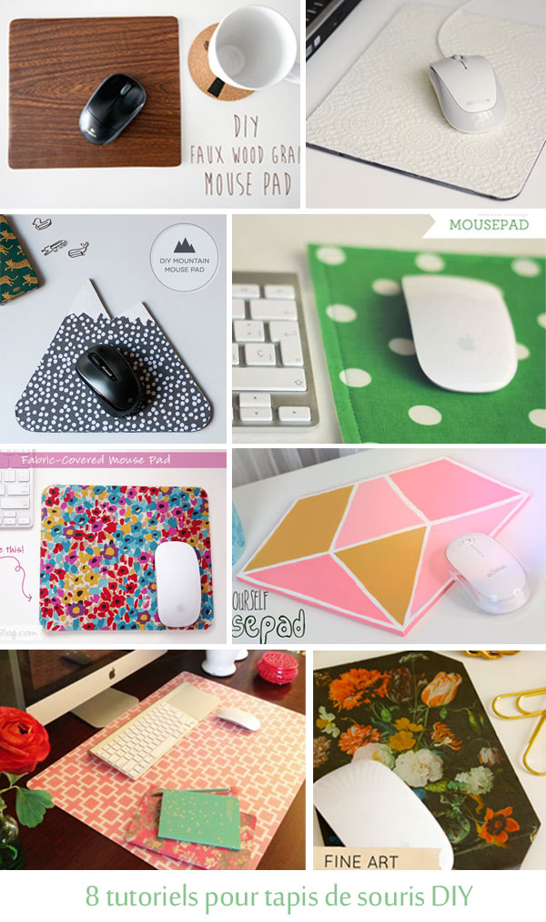 8 inspirations tapis de souris DIY