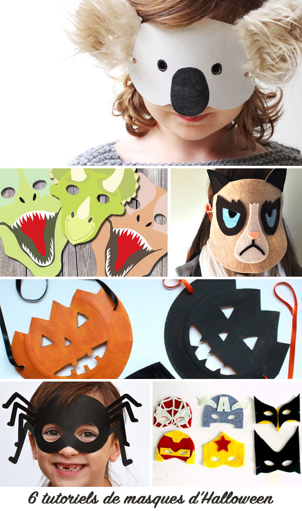 6 inspirations masques d'Halloween DIY