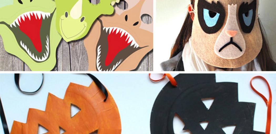 visuel présentation slide inspi masques halloween