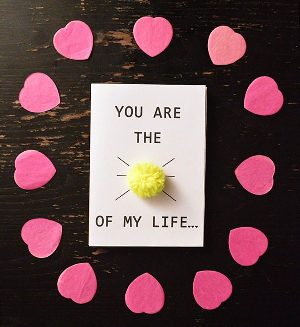 Carte Saint Valentin - You are the sunshine of my life DIY