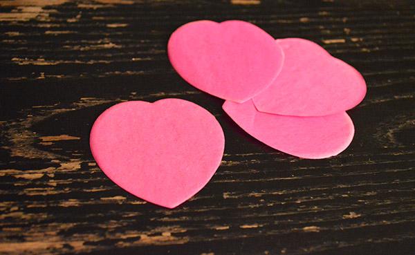 Coeur en papier Saint Valentin
