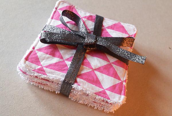 Lingettes démaquillantes DIY - idée cadeau