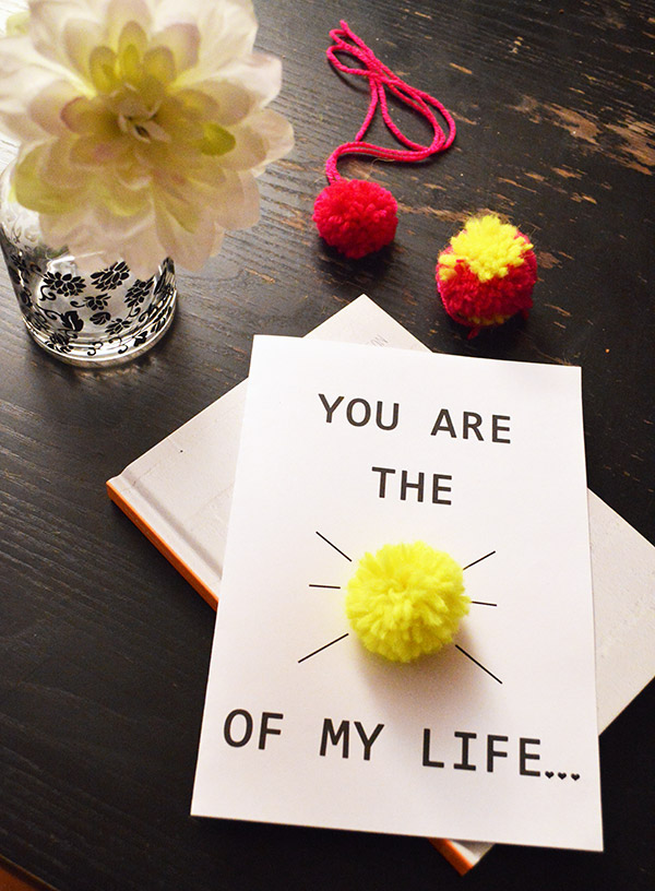 Présentation carte You are the sunshine of my life -  cadeau DIY
